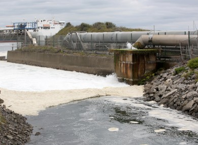 Wastewater flowing into Dublin Bay, file photo.