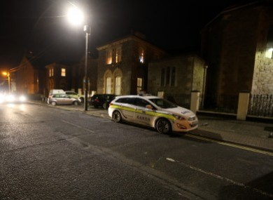 Gardaí at the scene of the incident last month.