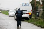 Gardaí outside a house being examined in Drogheda, Co Louth