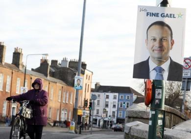 Election posters on Leeson Street Bridge.