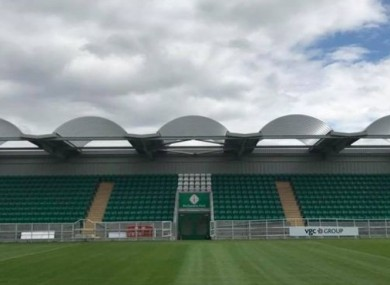 The stand at McGovern Park at Ruislip in London.