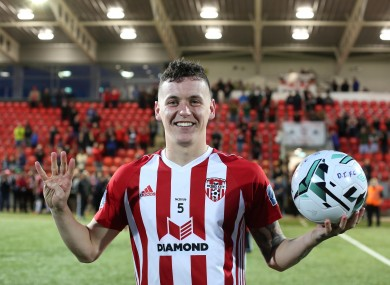David Parkhouse had a successful loan spell at Derry.