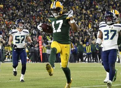 Green Bay Packers wide receiver Davante Adams.