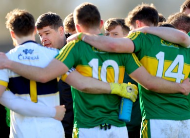 Kerry boss Eamonn Fitzmaurice with his squad in 2017