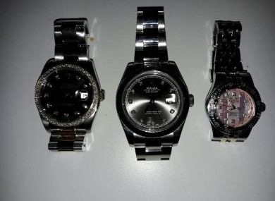 The seized watches