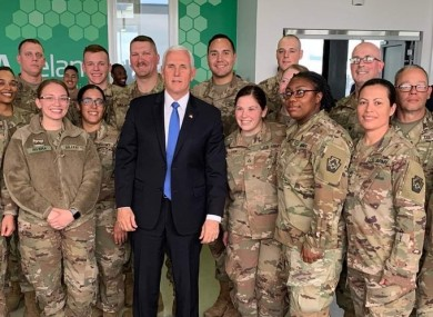 US Vice President Mike Pence in Shannon Airport last week.