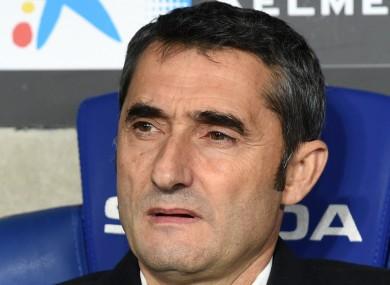 Barcelona head coach Ernesto Valverde