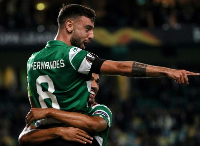 Bruno Fernandes: will face Benfica tonight.