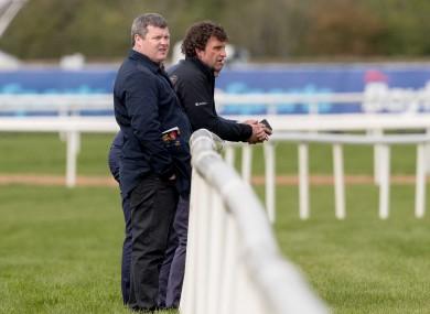 Nolan, right, with Gordon Elliott (file photo).