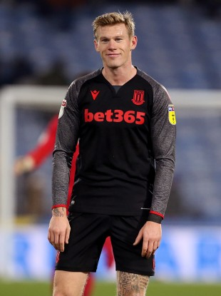 James McClean pictured after Stoke City's recent win against Huddersfield Town.