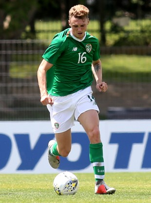 Jack Taylor pictured playing for Ireland U21s.