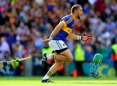 Tipperary defender James Barry celebrates the 2016 All-Ireland win.