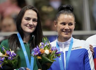 Kellie Harrington and Mira Potkonen.