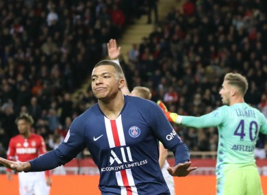 Kylian Mbappe did not celebrate his first goal against Monaco.