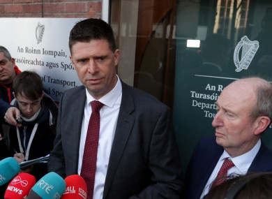 Niall Quinn and Shane Ross at today's announcement.