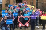 same-sex couples and campaigners in Northern Ireland