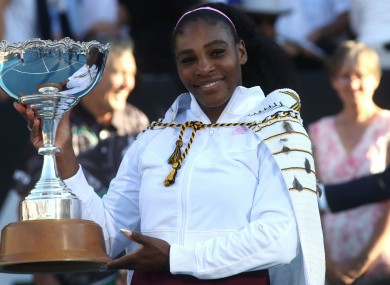 Auckland Open champion Serena Williams