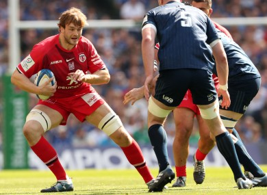 Gray facing Leinster in last year's Heineken Champions Cup semi-final at the Aviva Stadium.