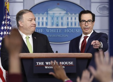 Mike Pompeo with Steve Mnuchin