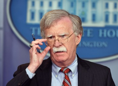 Former US National Security Adviser John Bolton.