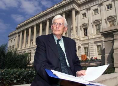 Seamus Mallon outside Capitol Hill in Washington DC.