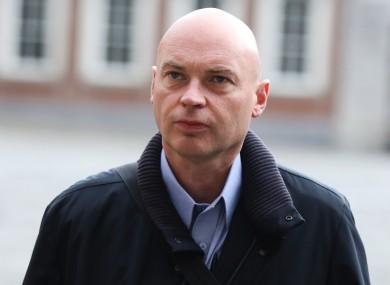 Garda whistleblower Nicholas Keogh arriving at the Disclosures Tribunal in Dublin Castle in October.