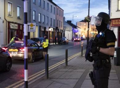 Armed gardaí on the streets of Longford last year.
