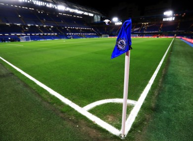 General view of the pitch at Stamford Bridge