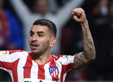 Atletico Madrid forward Angel Correa