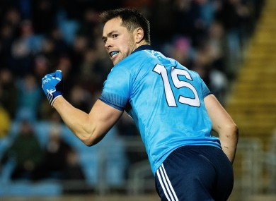 Dean Rock celebrates his goal for Dublin.