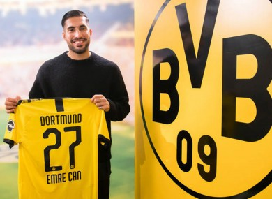 Emre Can has joined Borussia Dortmund.