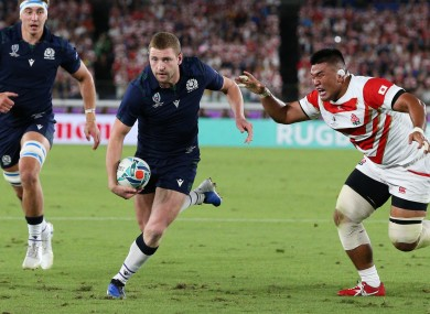 Finn Russell at the 2019 World Cup.