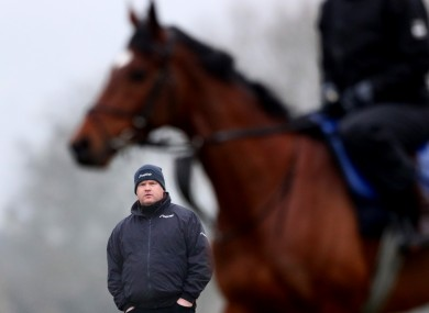 Elliott surveying the scene at Cheltenham in 2018.