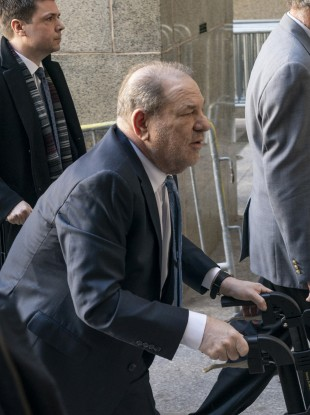 File photo of Harvey Weinstein arriving at his trial at New York State Supreme Court.