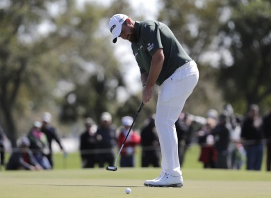 Shane Lowry has started well in Palm Beach.