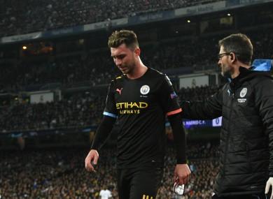 Aymeric Laporte walks off injured in Madrid