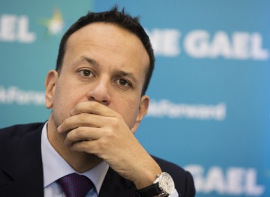Leo Varadkar at the final main Fine Gael press conference of their General Election Campaign in the Institute of Technology, Carlow Town. Photo: Eamonn Farrell/RollingNews.ie