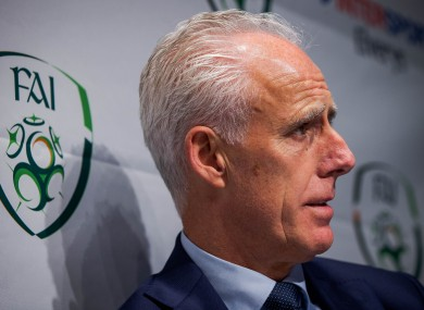 Mick McCarthy pictured speaking at an event earlier today.