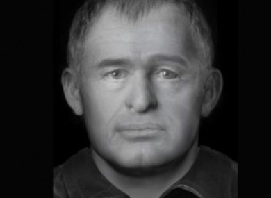 A facial reconstruction released by gardaí in an earlier appeal for information.