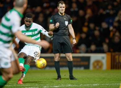 Odsonne Edouard scores his side's fourth goal.
