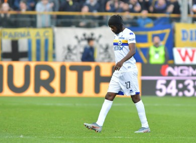 Gervinho has been exiled by Parma.