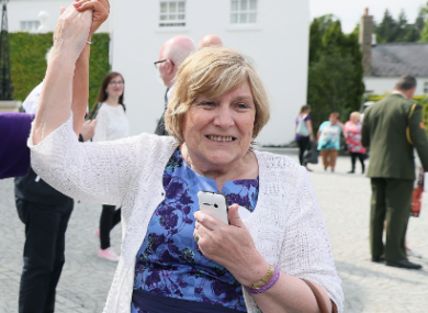 Elizabeth Coppin during a visit to Áras an Úachtaráin in 2018.