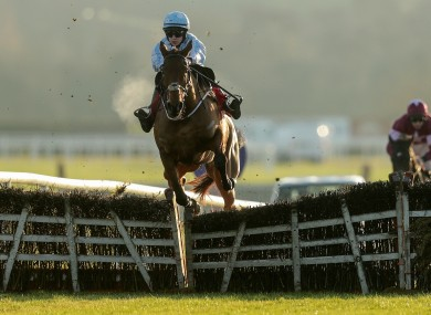 Rachel Blackmore and Honeysuckle on their way to victory today.