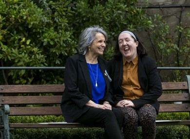 Aine Lawlor with her mother, Anne Lawlor who chairs the 22q11 Ireland support group.