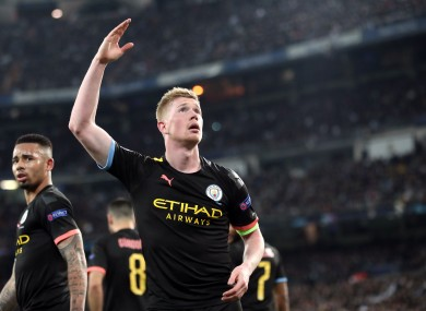 City hero Kevin De Bruyne.