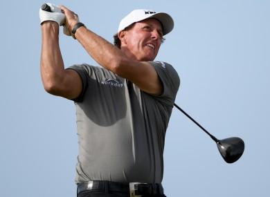 American golfer Phil Mickelson.