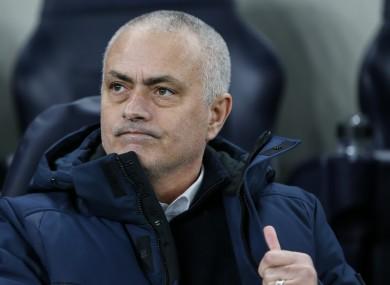Tottenham Hotspur's coach Jose Mourinho.
