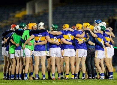 The Tipperary team pictured before their recent Allianz Hurling League game against Limerick.