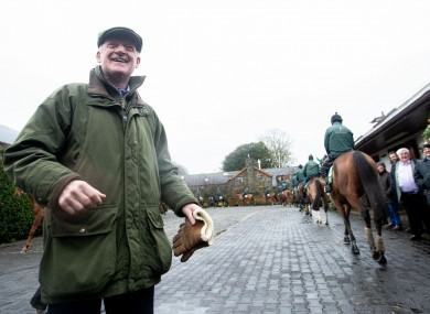 Trainer Willie Mullins at his yard in Carlow today.