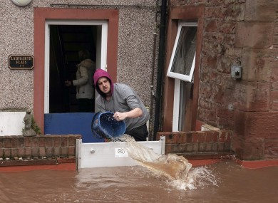Flooded streets in Appleby-in-Westmorland, Cumbria, as Storm Ciara hits the UK.